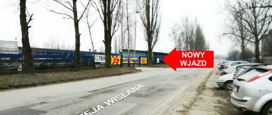 <strong>NOWY WJAZD</strong> do PZRI S.A. &#8211; od ul. Mierzeja Wiślana