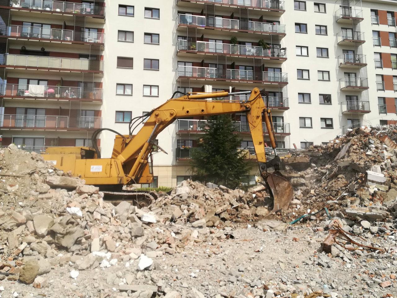 Wyburzenia Kraków Małopolska sprzęt wynajem