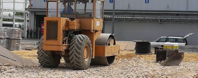 Realizacja: Prace przy budowie parkingu Volvo w Skawinie